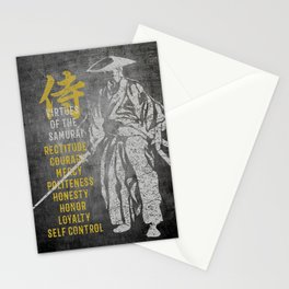 Virtues of Samurai Stationery Cards
