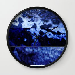 Blue Magnification (Five Panels Series) Wall Clock