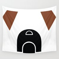 boxer Wall Tapestries featuring Boxer by modern arf