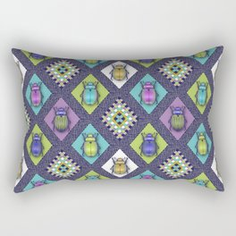 Scarabs Quilt Rectangular Pillow