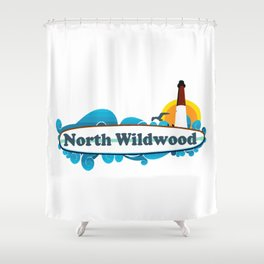 North Wildwood - New Jersey. Shower Curtain