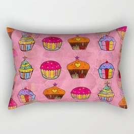 Cupcake Popart by Nico Bielow Rectangular Pillow