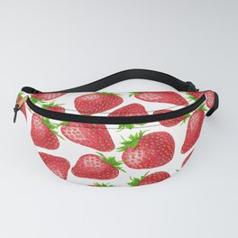 Strawberries watercolor pattern Fanny Pack