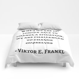 Stoic Wisdom Quotes - Viktor Frankl Comforters