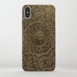 Decorative Ek Onkar / Ik Onkar  embossed on gold iPhone Case