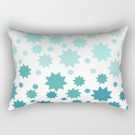 Seafoam 9pt Stars Rectangular Pillow