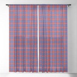 Hamilton Tartan Plaid Sheer Curtain
