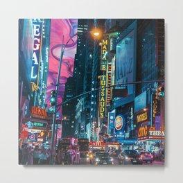 trippy city  Metal Print