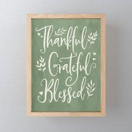 Thankful, Grateful, Blessed Farmhouse Art Framed Mini Art Print