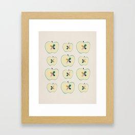 Midcentury Apples Framed Art Print