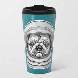 Astronaut Pug Travel Mug