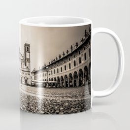 The stunning Piazza Ducale in Vigevano in autumn while raining Coffee Mug