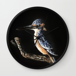 Kingfisher Painting Wall Clock