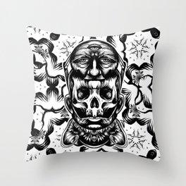 Face helmet Throw Pillow