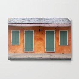 New Orleans Windows and Doors II Metal Print