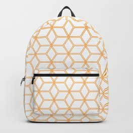 Geometric Hive Mind Pattern - Orange #338 Backpack