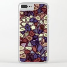 Fractal Gems 01 - Fall Vibrant Clear iPhone Case