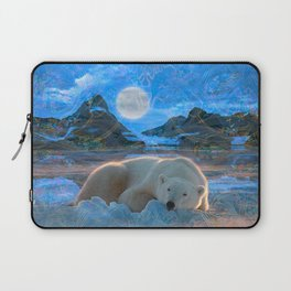 Just Chilling and Dreaming (Polar Bear) Laptop Sleeve