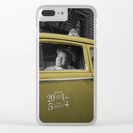Vintage Taxi 5 Clear iPhone Case