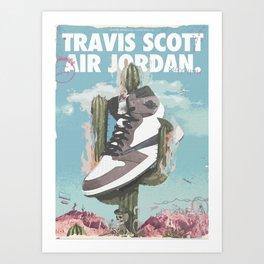 Travis x Air Jordan 1 Poster Art Print