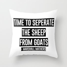 Famous Rapper Quote Throw Pillow