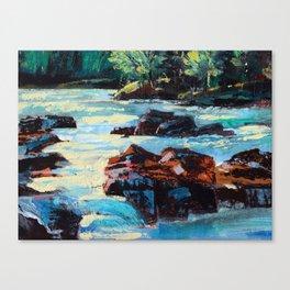 Toby Waters creek painting by Dennis Weber / ShreddyStudio Canvas Print