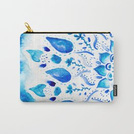 Boho china blue mandala floral watercolor pattern Carry-All Pouch