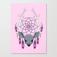 dreamcatcher Canvas Prints featuring Dreamcatcher by Freeminds