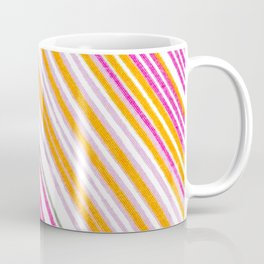 Slanted Variegated Pink Stripes Coffee Mug