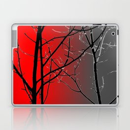 Red And Gray Laptop & iPad Skin