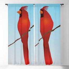 Northern cardinal Blackout Curtain