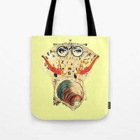 psychology Tote Bags featuring Mystical uterus by Laura Nadeszhda