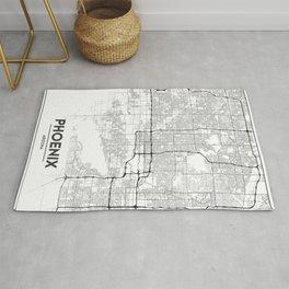 Minimal City Maps - Map Of Phoenix, Arizona, United States Rug