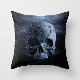 Gothic Skull Throw Pillow