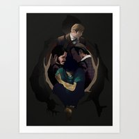 hannibal Art Prints featuring Hannibal by Valachhim