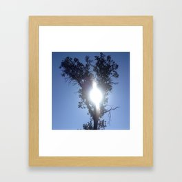 Keyhole sun heart tree Framed Art Print