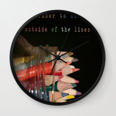 Color outside of the lines Wall Clock