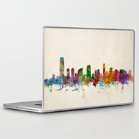 new jersey Laptop & iPad Skins featuring Jersey City New Jersey Skyline by artPause