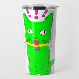 """Heckin Confused Derp Cat"", by Brock Springstead Travel Mug"