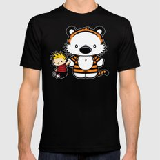 Hello Tiger Mens Fitted Tee Black LARGE