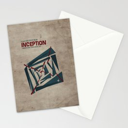 """""""Inception"""" Leonoardo DiCaprio Film Inspired Vintage Movie Poster Stationery Cards"""