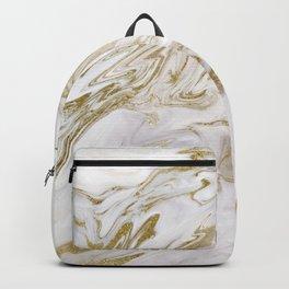 Liquid gold marble II Backpack