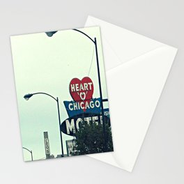 Heart 'O' Chicago Motel (Day) ~ vintage neon sign Stationery Cards
