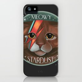 Meowy stardust Bowie fan artwork ziggi stardust  iPhone Case
