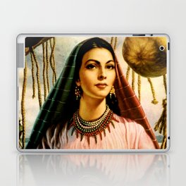 Jesus Helguera Painting of a Mexican Fisher Girl With Basket Laptop & iPad Skin