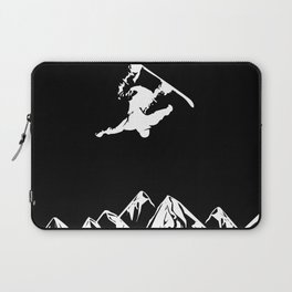 Rocky Mountain Snowboarder Catching Air Laptop Sleeve