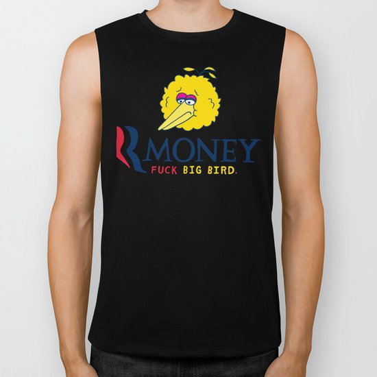 Romney VS Big Bird Biker Tank