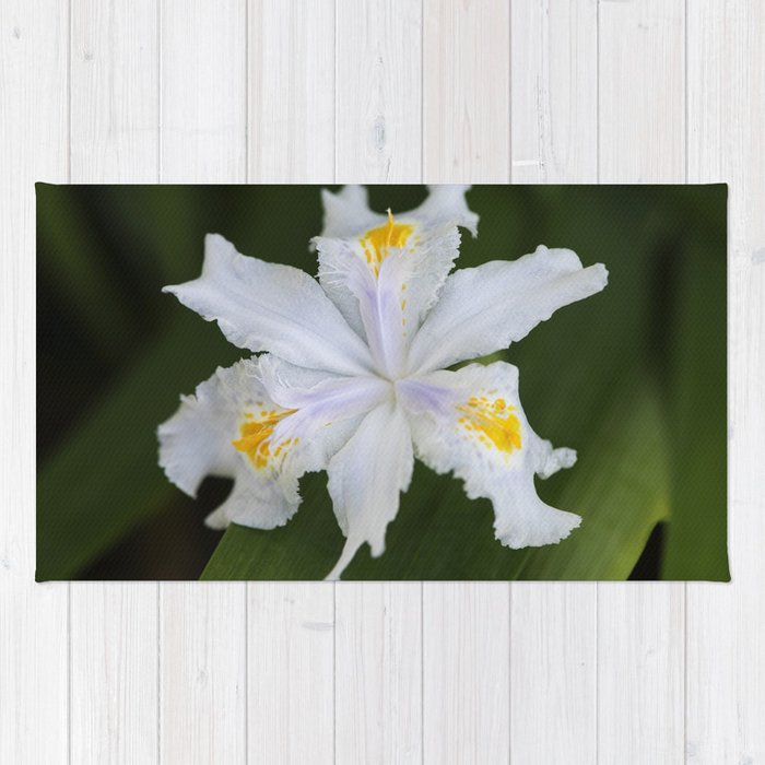 Japanese Roof Iris 2 Rug