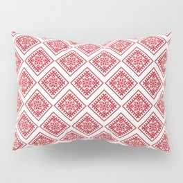 Latvian Traditional Sign Pattern Pillow Sham