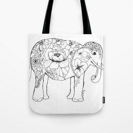 Elephant Full of Florals Tote Bag